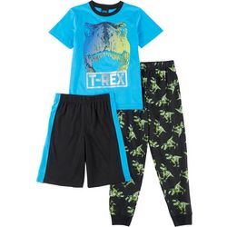Jelli Fish Inc. Big Boys T-Rex Pajama Set