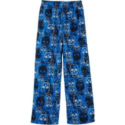Little Boys Skull Fleece Pajama Pants