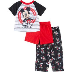 Mickey Mouse Toddler Boys 3-pc. Striped Pajama Set
