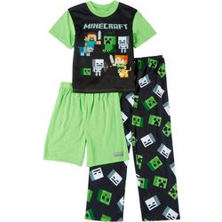Minecraft Little Boys 3-pc. Minecraft Logo Pajama Set