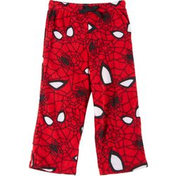 Spider-Man Little Boys Fleece Spider Web Pajama Pants