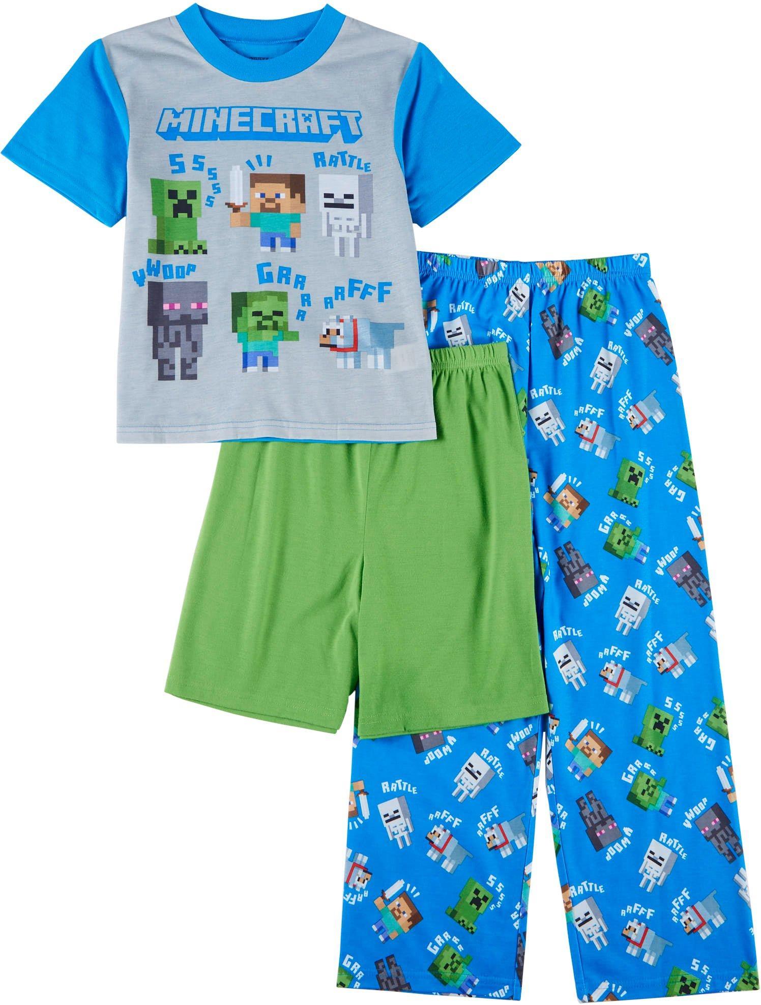 Minecraft Rattle 2-Piece Pajamas