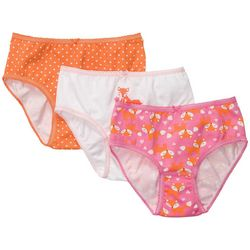 Carters Little Girls 3-pk. Polka Dot Fox Brief Panties