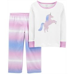 Carters Toddler Girls 2-pc. Tie Dye Unicorn Pajama Set