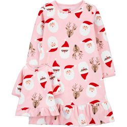 Carters Toddler Girls Santa Nightgown & Doll Nightgown Set