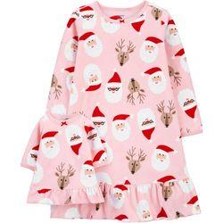 Toddler Girls Santa Nightgown & Doll Nightgown Set
