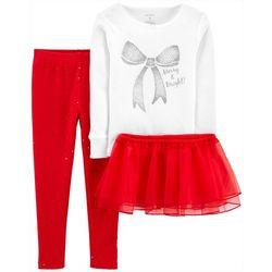 Toddler Girls 3-pc. Merry & Bright Tutu Set