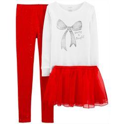 Little Girls 3-pc. Merry & Bright Tutu Set