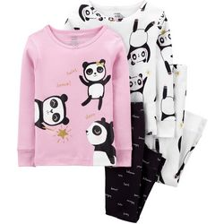 Carters Toddler Girls 3-pc. Panda Pajama Set