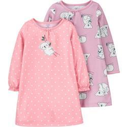 Little Girls 2-pk. Koala Sleep Gown Set