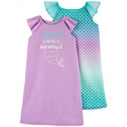 Carters Toddler Girls 2-pk. Mermaid Nightgowns