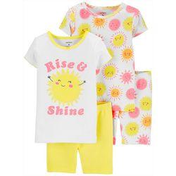 Carters Toddler Girls 4-pc. Rise & Shine Sleepwear