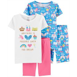 Little Girls 4-pc. Princess Sleepwear Set