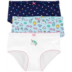 Little Girls 3-pk. Unicorn Heart Brief Panties