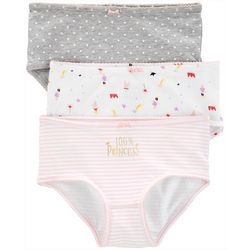 Carters Little Girls 3-pk. 100% Princess Dot Brief Panties