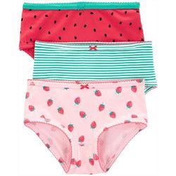 Little Girls 3-pk. Stripe Fruit Brief Panties