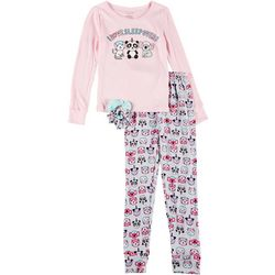 Big Girls Sleepovers Pajama Set & Hair Ties