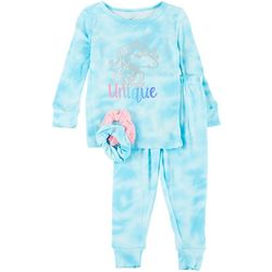 Rene Rofe Toddler Girls Tie-Dye Pajama Set & Hair Ties