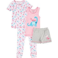 Big Girls 4-pc. Dino Sleepwear Set