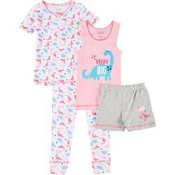Big Girls 4-pc. Dino Sleepwear Set