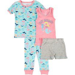 Rene Rofe Toddler Girls 4-pc. Mermaid Sleepwear Set