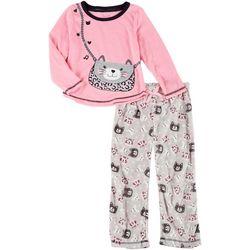 Little Girls 2-pc. 3D Cat Pajama Pants Set