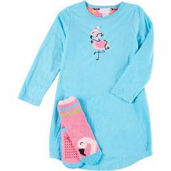 Girls 2-pc. Microfleece Sleepwear Gown Set