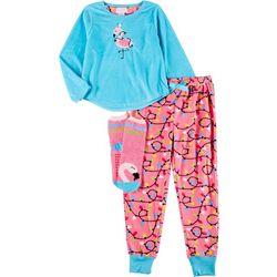 Big Girls 3-pc. Flamingo Pajama Set