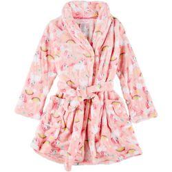 Girls Unicorn Print Robe