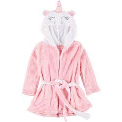 Toddler Girls Unicorn Hooded Robe