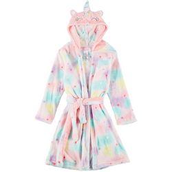 Big Girls Unicorn Hooded Robe