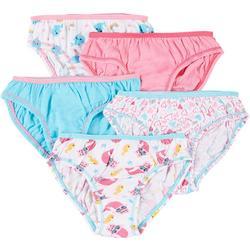 Girls 5-pk. Solid & Printed Brief Panties