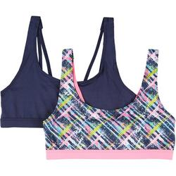 Only Girls 2-pk. Solid & Printed Training Bralettes