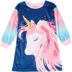 Komar Girls Long Sleeve Unicorn Sleep Shirt