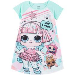 Little Girls 2 Fly 4 Wrdz! Sleep Gown