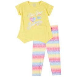 Sleep On It Big Girls 2-pc. Snooze Capri Leggings Set