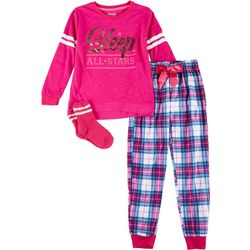 Big Girls 3-pc. Graphic Pajama Set