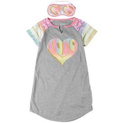 Little Girls 2-pc. Hearts Pajama Set