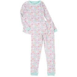 Sleep On It Big Girls 2-pc. Hearts Pajama Set
