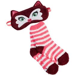 Girls Socks & Fox Eye Mask Set