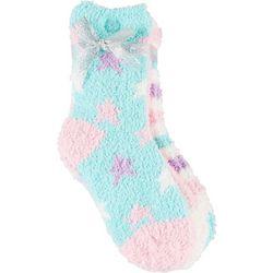 Girls Chenille Patterned Slipper Socks