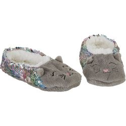 Girls Kitty Slippers