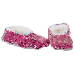 Girls Flip Sequin Slippers