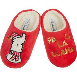 Mushmellow by Olivia Miller Girls Festive Llama Slippers