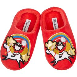 Mushmellow Girls Santa Unicorn Slippers