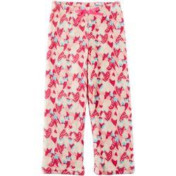 Little Girls Heart Print Pajama Pants