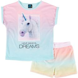 Little Girls Magical Dreams Pajama Short Set