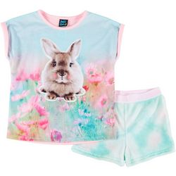 Jelli Fish Inc. Big Girls 2-pc. Bunny Pajama Shorts Set