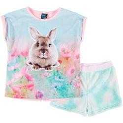 Little Girls 2-pc. Bunny Pajama Shorts Set