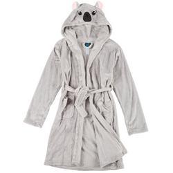 Girls Koala Hooded Robe